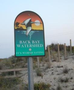 Back Bay Wtaershed Sign