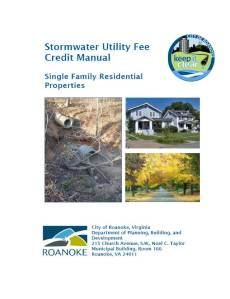 Roanoke SFR Stormwater Utility Fee Credit Manual
